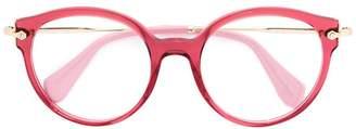 Miu Miu oversized round glasses