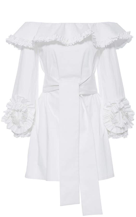 Alexis Miquela Off Shoulder Ruffle Dress
