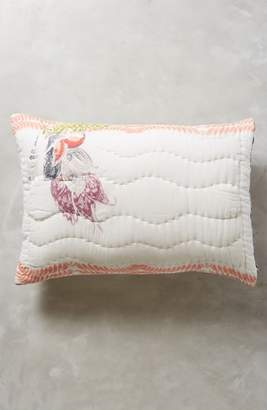 Anthropologie Woodblock Floral Pillow Shams