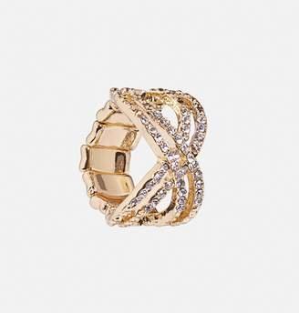 Avenue Criss Cross Mini Diamond Stretch Ring