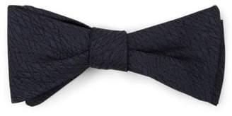 Title of Work Men's Geometric Silk Brocade Bow Tie - Navy