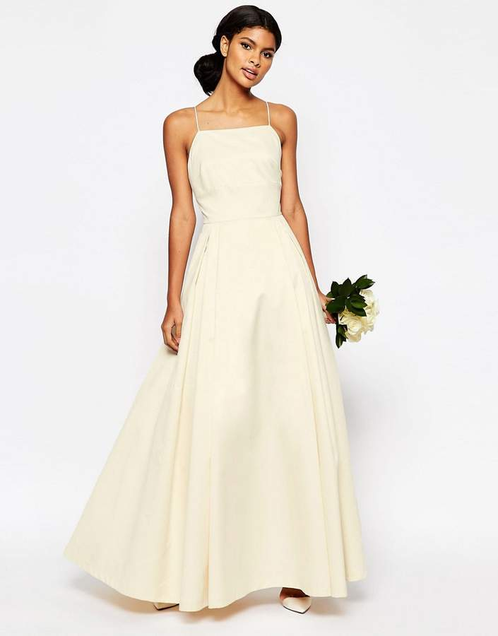 AsosASOS BRIDAL Extreme Sateen Maxi Prom Dress
