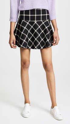 RED Valentino Plaid Skirt