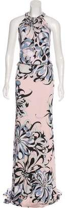 Emilio Pucci Printed Evening Dress