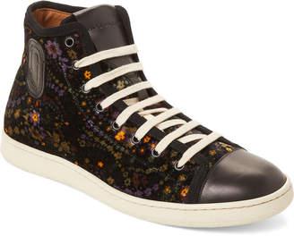 Marc Jacobs Floral Velvet High-Top Sneakers