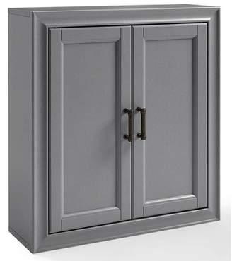 Crosley Furniture Tara Wall Cabinet In Vintage Grey