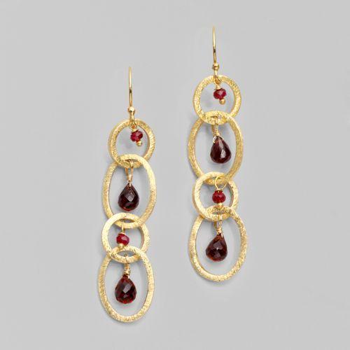 Alexis Bittar Four Link Vermeil Earrings