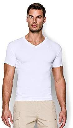 Under Armour Men's Tactical HeatGear Compression V-Neck T-Shirt Tops by Medium Black