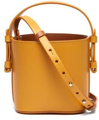 Nico Giani - Adenia Mini Leather Bi Colour Bucket Bag - Womens - Yellow Multi