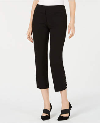 Alfani Pearl-Trim Cropped Pants, Created for Macy's