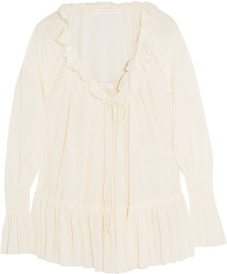 See by Chloé - Ruffled Voile Blouse - White $345 thestylecure.com