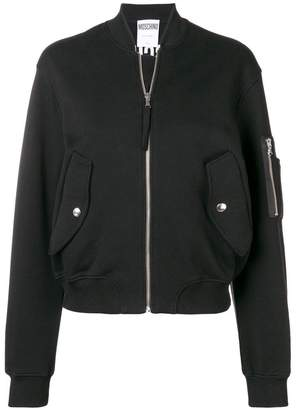 Moschino long sleeved bomber jacket