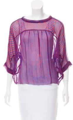 Etoile Isabel Marant Silk Short Sleeve Blouse