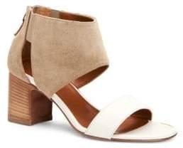 Aquatalia Enid Leather & Suede Sandals