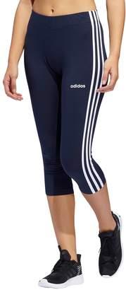 adidas Women's Essential 3-stripe Midrise Capri Leggings