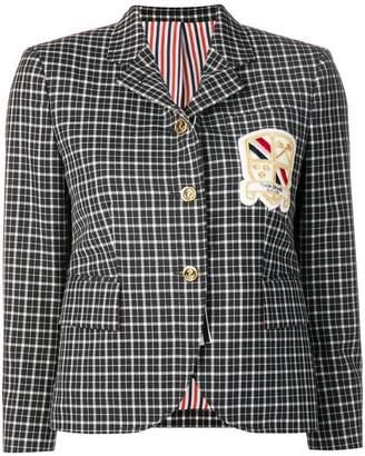 Thom Browne Windowpane School Uniform Sport Coat