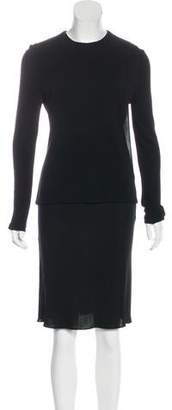Calvin Klein Collection Long Sleeve Knee-Length Skirt Set