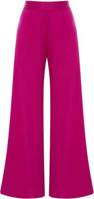 Marchesa Silk Wool Wide Leg Trousers