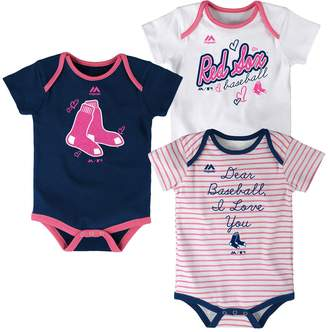 Majestic Baby Boston Red Sox 3-Pack Bodysuits