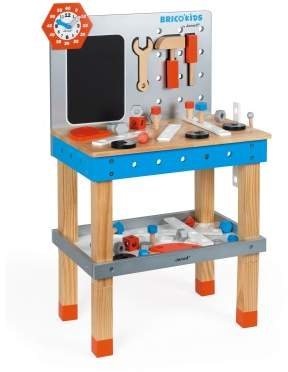 Janod Brico Kids Wooden Magnetic Workbench with Acessories