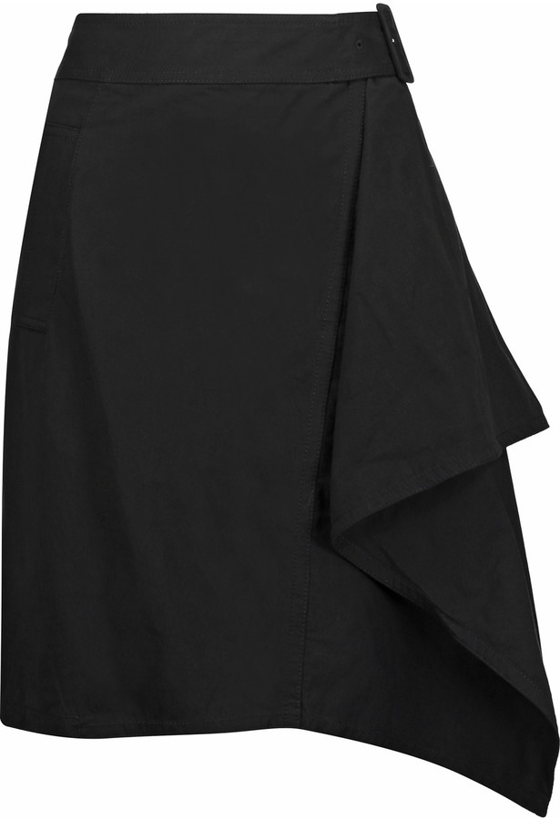 3.1 Phillip Lim 3.1 Phillip Lim Belted draped cotton-gabardine mini skirt