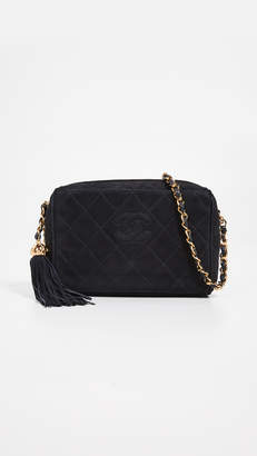 Chanel What Goes Around Comes Around Suede Diamond CC Bag