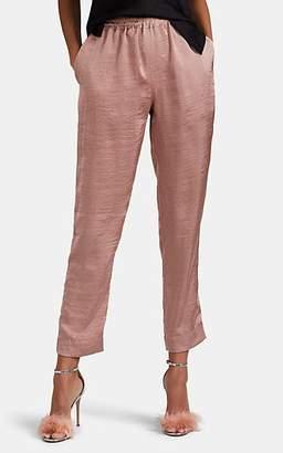 Juan Carlos Obando Women's Icon Washed Satin Track Pants - Mauve