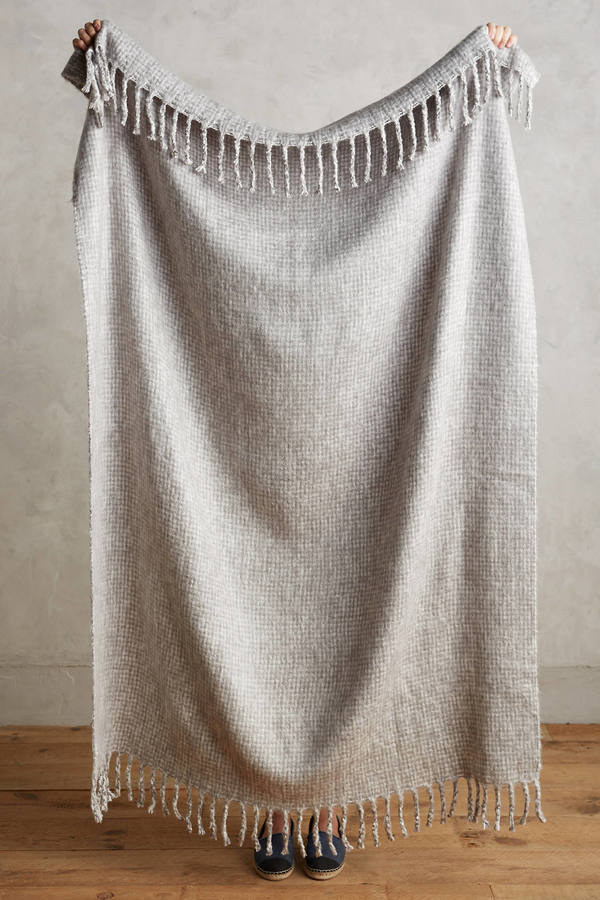 AnthropologieAnthropologie Soft-Brushed Gingham Throw