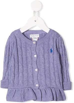 Ralph Lauren Kids cable knit cardigan