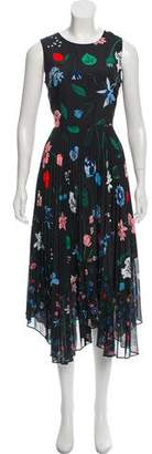Markus Lupfer Printed Midi Dress