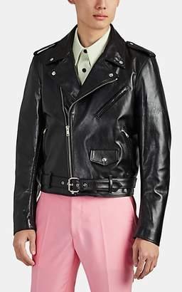 """Calvin Klein Men's """"Stephen Sprouse"""" Leather Moto Jacket - Black"""