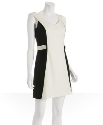 Abaete white stretch wool 'Delancey' v-neck dress