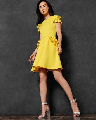 Ted Baker DENEESE Ruffle detail dress