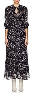 Isabel Marant Women's Maxene Floral Silk Maxi Dress - Dk. Blue