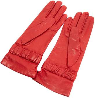 Gianfranco Ferre Red Leather Gloves