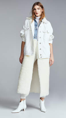 Natasha Zinko Denim Shearling Oversized LS Jacket