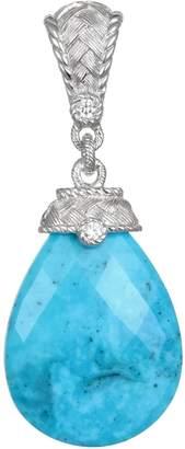 Judith Ripka Sterling Turquoise & Diamonique Drop Enhancer