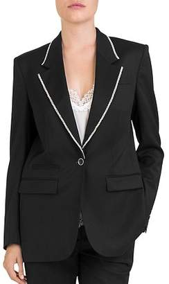 The Kooples Rhinestone-Trim Blazer