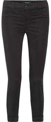 J Brand Anja Stretch-twill Skinny Pants - Black