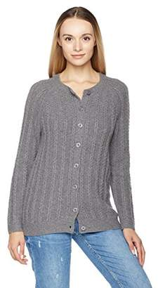 True Angel Women's Long-Sleeve Cable Cardigan S