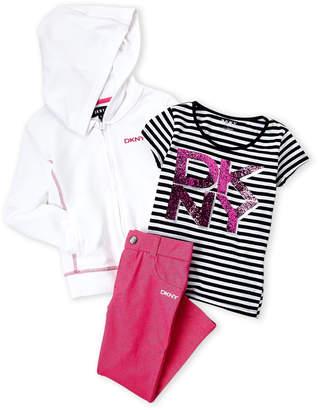 DKNY Girls 4-6x) Zip Hoodie & Leggings Set