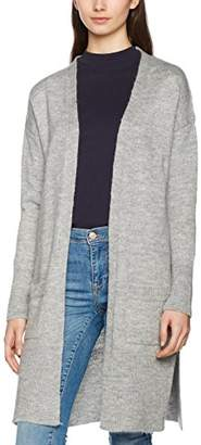New Look Women's 5107028 Cardigan, (Light Grey), (Size:Small)