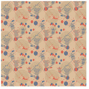 Circus Celebration Self-Launch Wrapping Paper