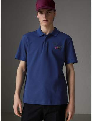Burberry Triple Archive Logo Cotton Piqué Polo Shirt