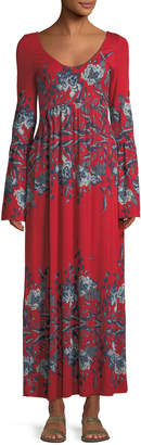 Free People Midnight Garden Bell-Sleeve Maxi Dress