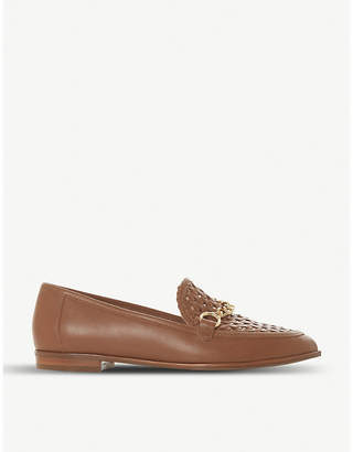 Dune Galowe chain-detail leather loafers