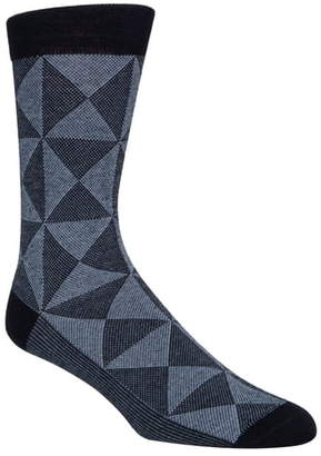 Cole Haan Diamond Pique Crew Socks