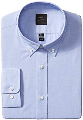 Oxford NY Men's Solid-Button Down Collar Dress Shirt