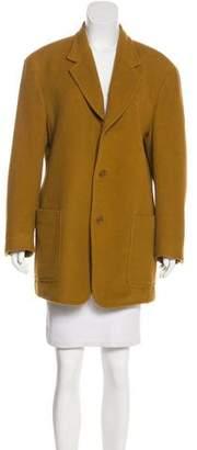 Donna Karan Knee-Length Angora-Blend Coat