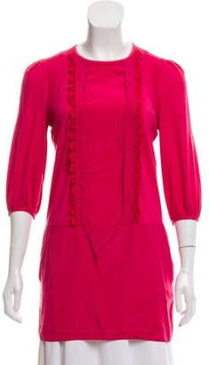 See by Chloe Silk-Blend Crew Neck Tunic